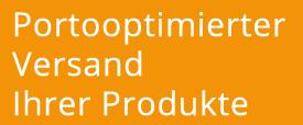 Portooptimierter Versand Ihrer Produkte